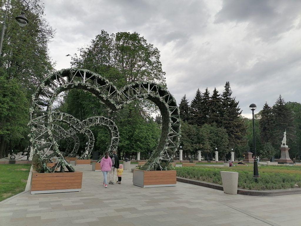 арки-сердечки, Северный речной вокзал, парки Москвы