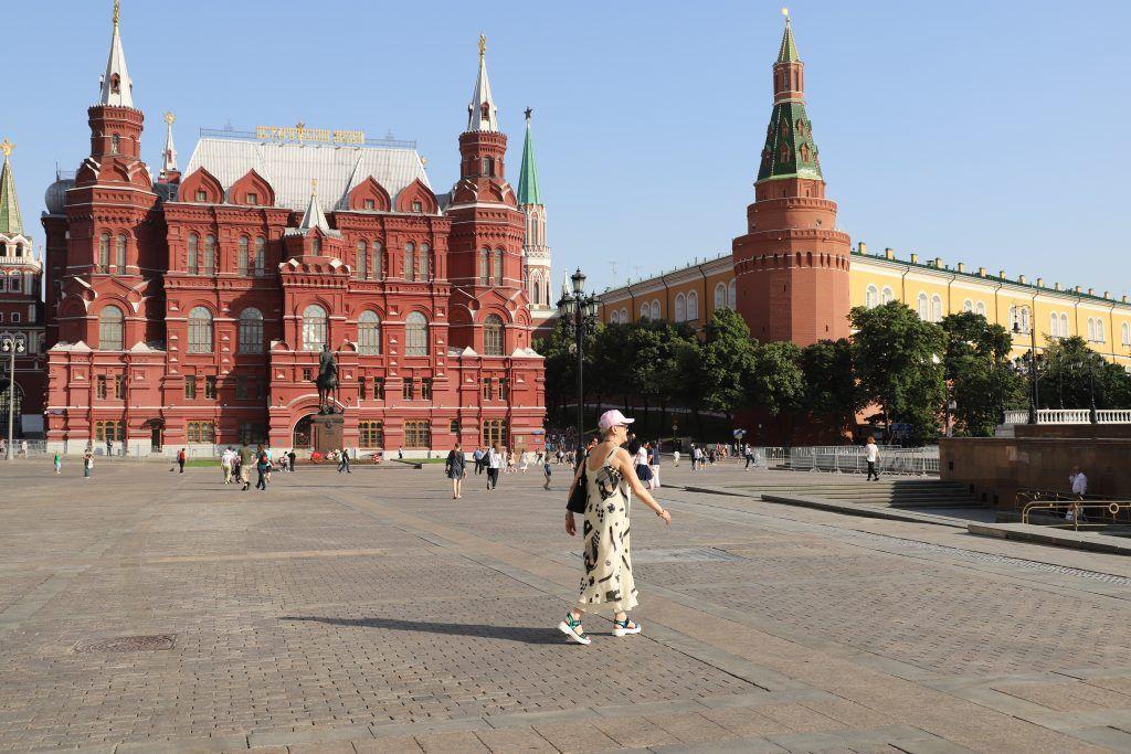 жара, лето, Красная площадь