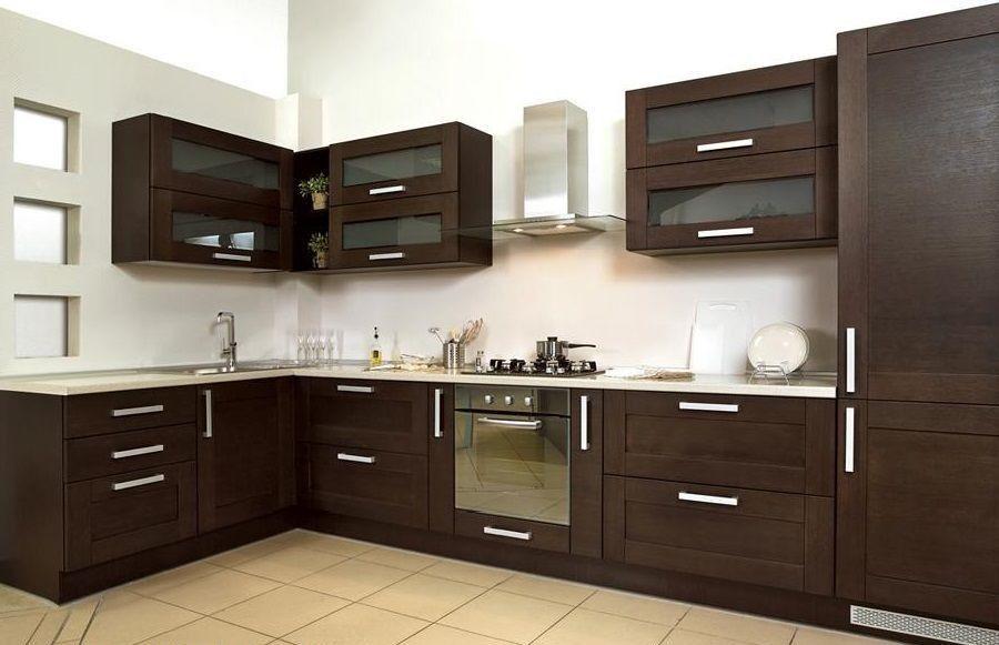 кухня, темный фасад