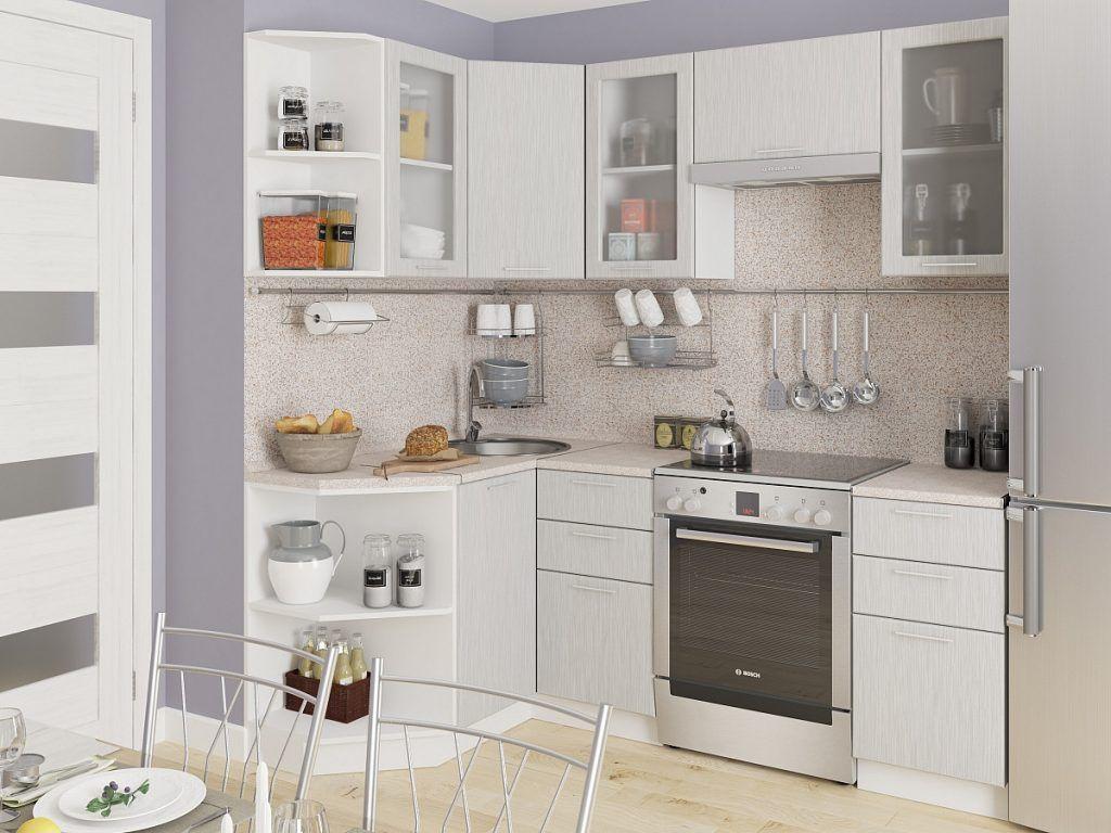 кухня, светлый фасад