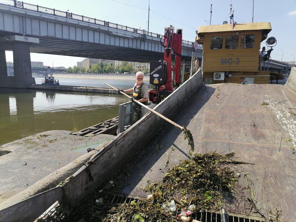 ГУП Мосводосток, мусор, Москва-река, экология