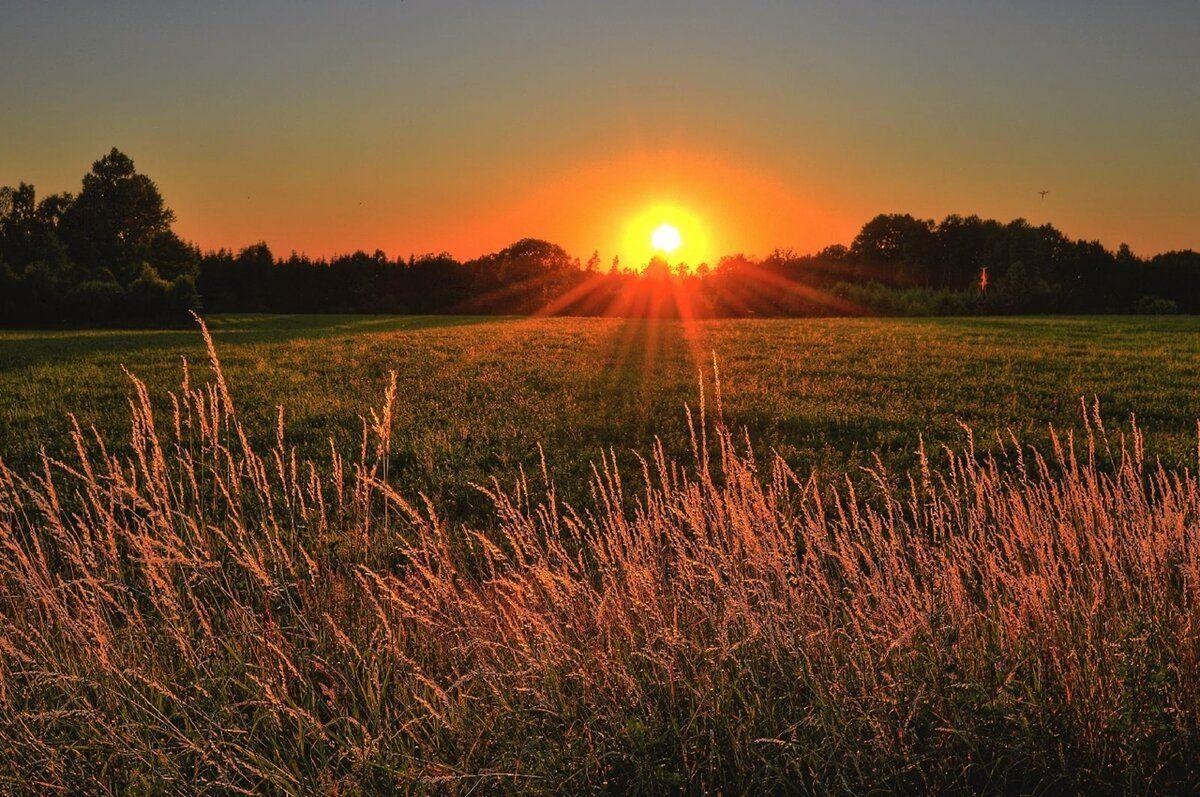 солнце, закат