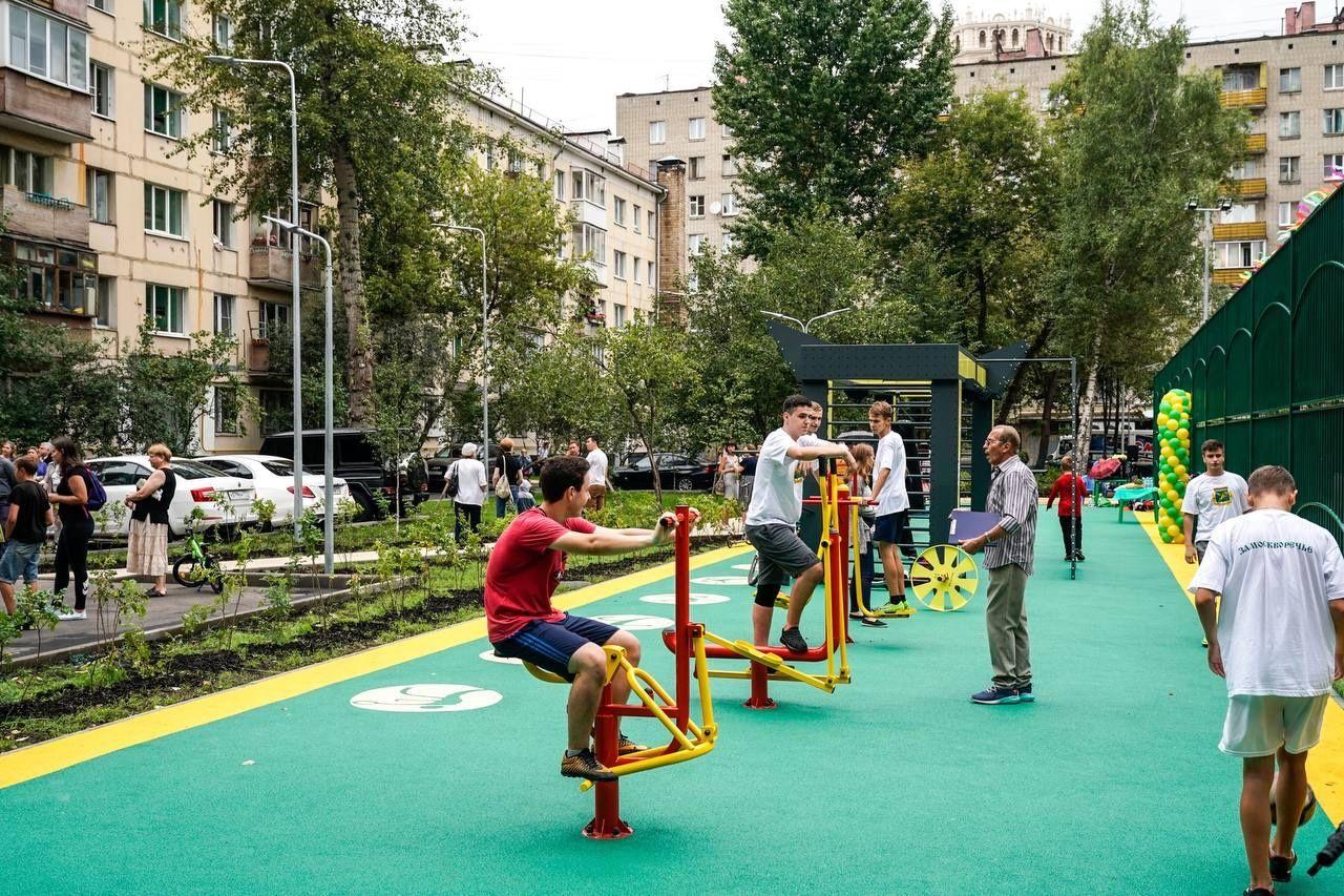 благоустройство, спортивная площадка, детская площадка, дети