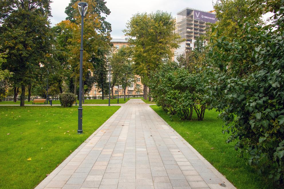 парки Москвы, парк Декабрьского восстания, благоустройство, озеленение, осень