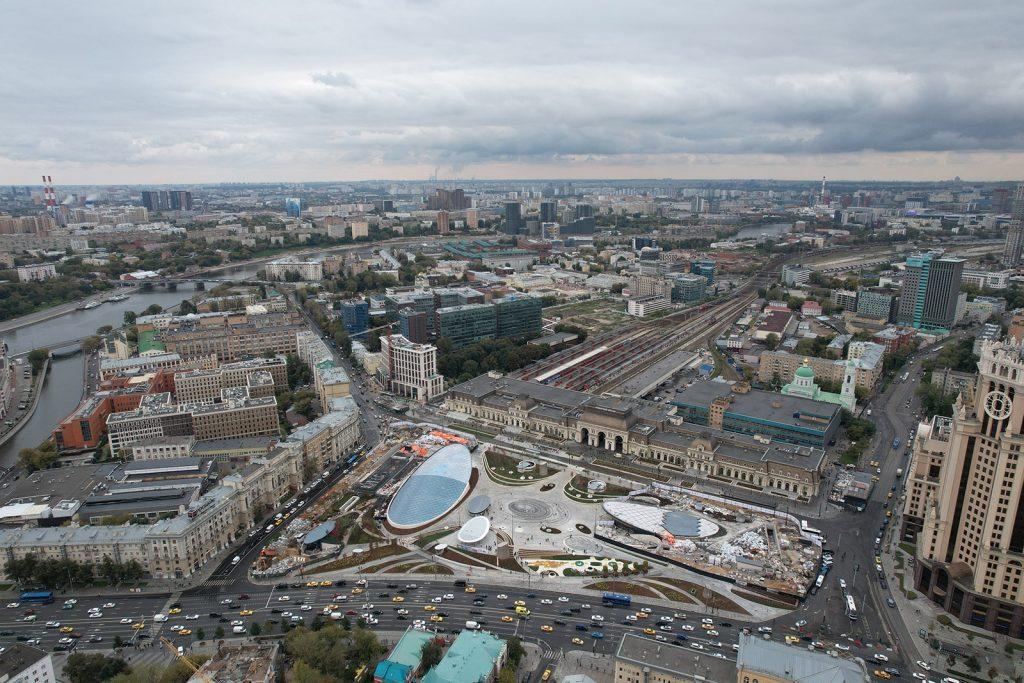 парк Павелецкой площади, благоустройство