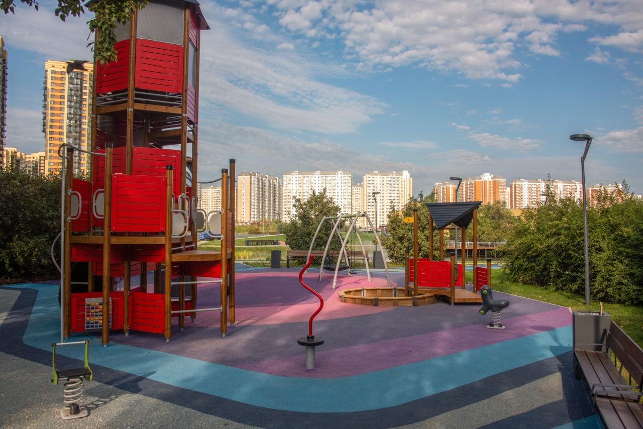 благоустройство, сквер, ЗАО, Ново-Переделкино, детская площадка