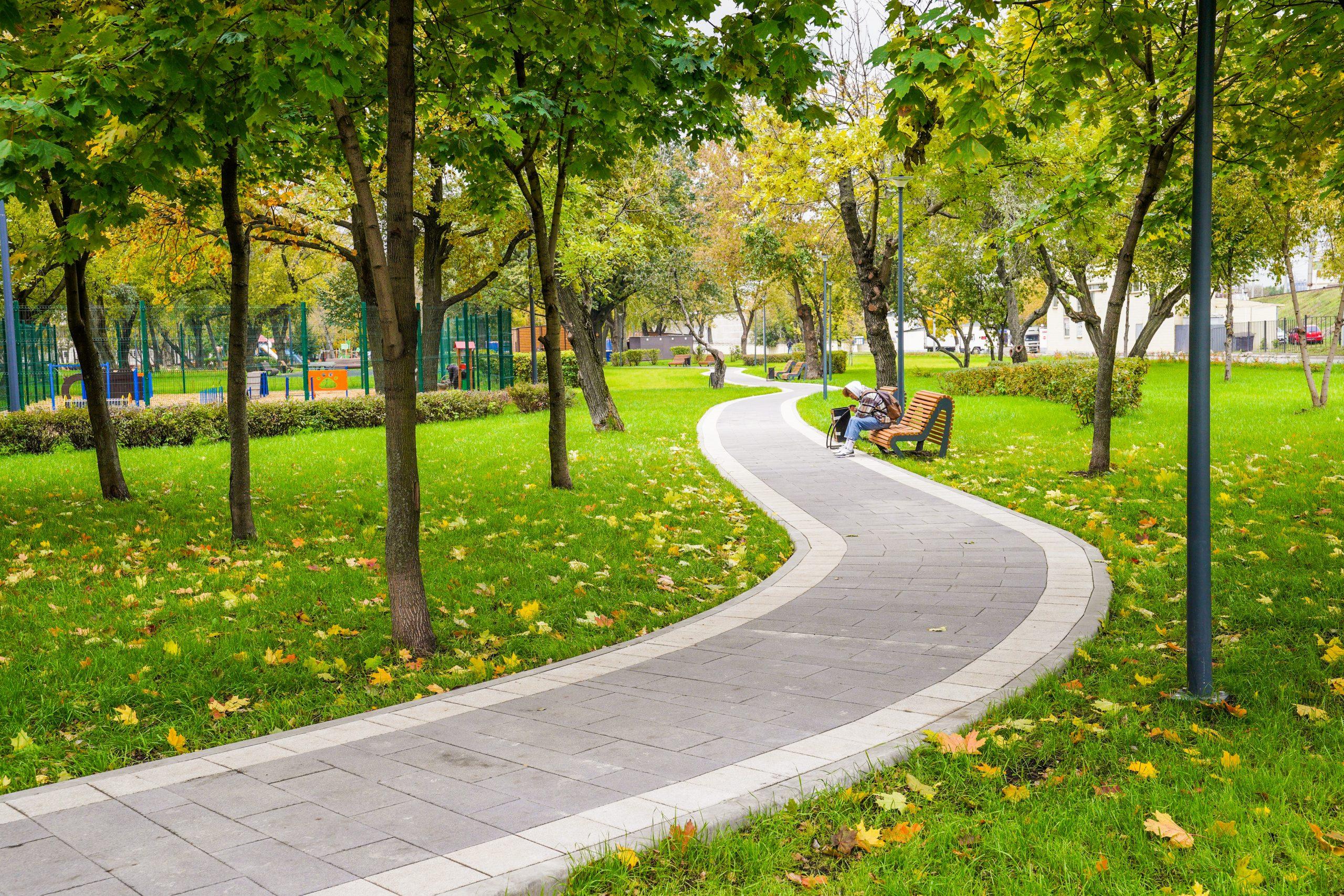 парк Карачарово, дорожка, благоустройство