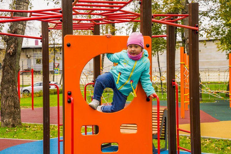 парк Карачарово, детская площадка, благоустройство