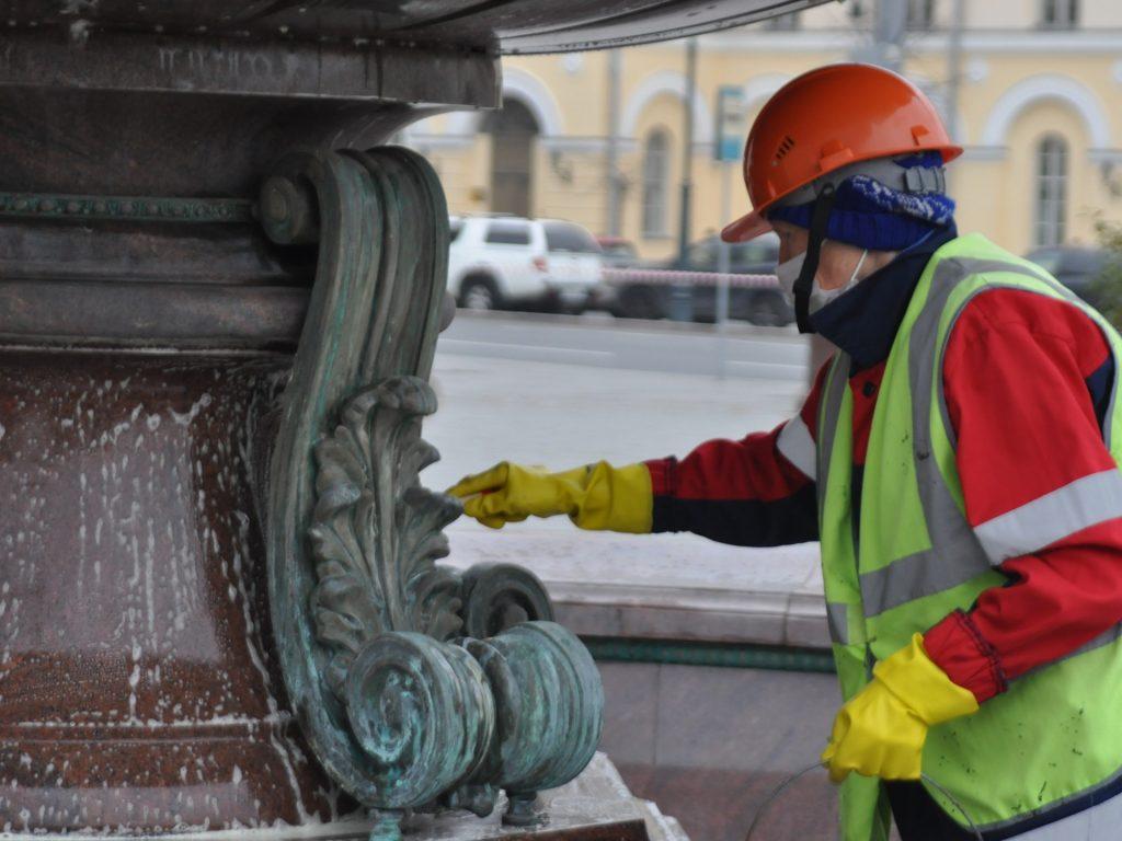 ГБУ Гормост, фонтан, осень в Москве