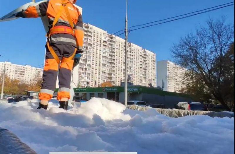 санация, снег