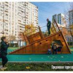 Детская площадка со скалодромом появилась в Братееве на юге Москвы