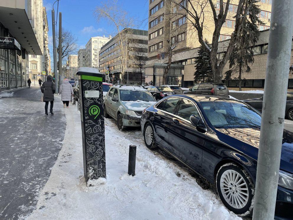 парковка, зима, машины