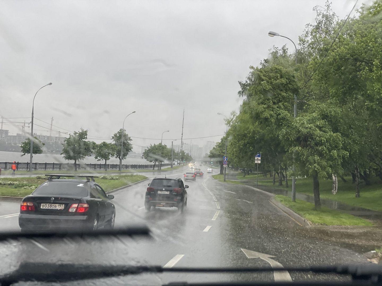 дождь, погода, дорога, машина
